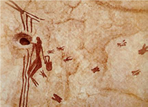 Höhlenmalerei Honigjäger
